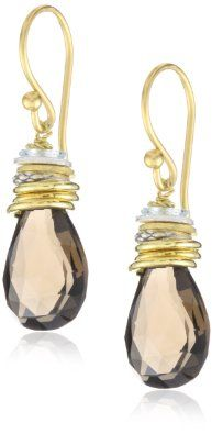 "Amazon.com: Lulu Designs ""Desert"" Smokey Topaz and Stacked Ring Drop Earrings: Jewelry"