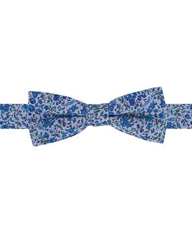 Lord & Taylor Kids Boys 2-7 Silk Floral Print Bow Tie  Blue
