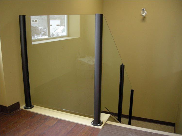 Glass Railing Gallery Falcon Railings Usa Glass Railing Glass And Aluminium Modern Stairs