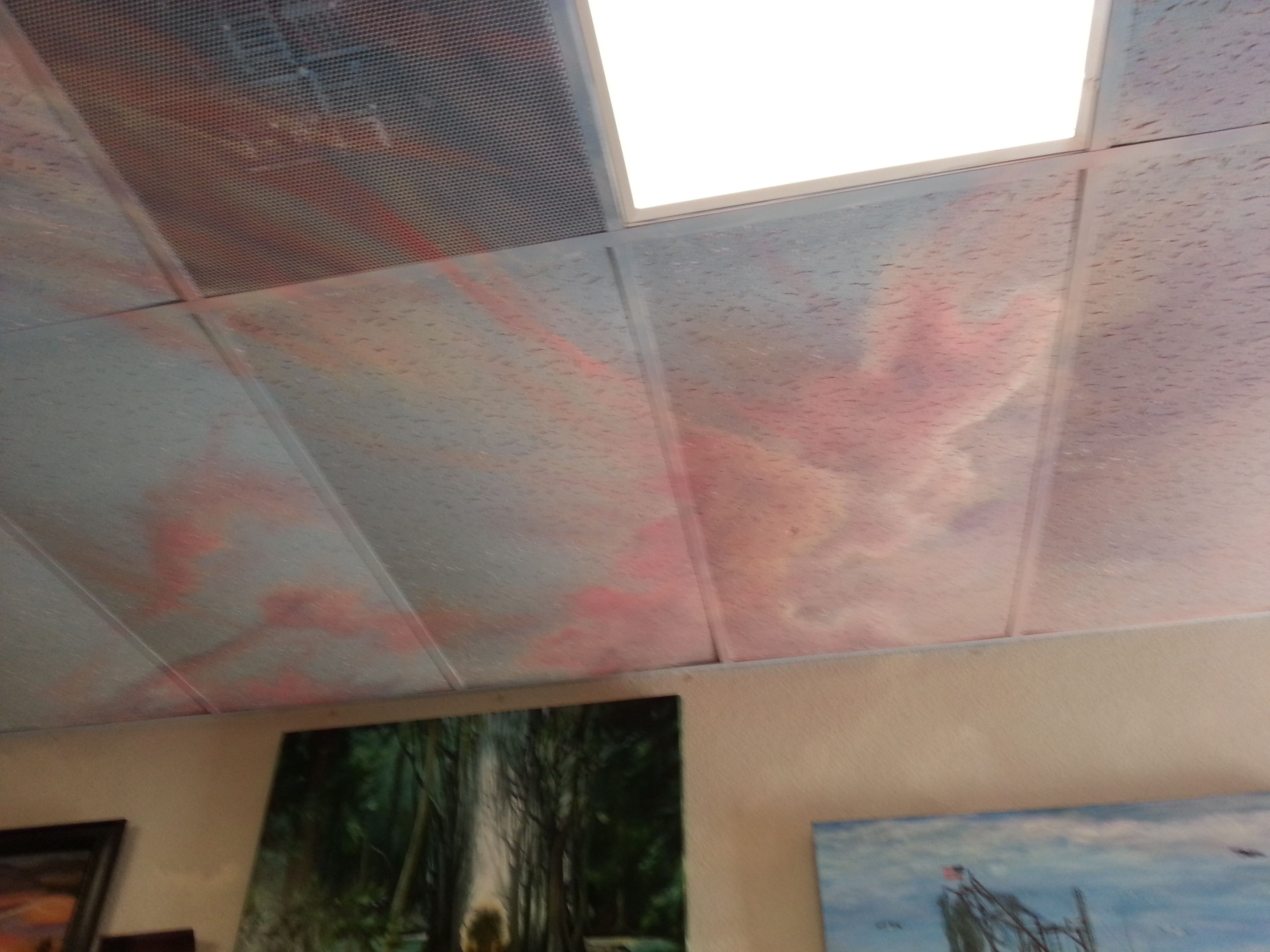 acoustic ceiling tiles painted sky - Google Search