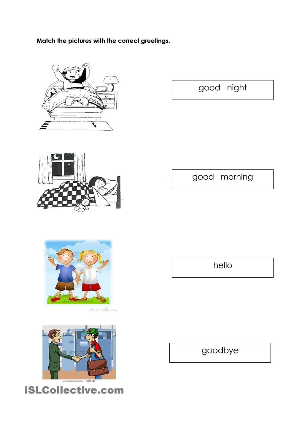 Greetings Worksheets Pinterest Worksheets Esl And Preschool