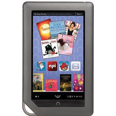 Barnes Noble Nookcolor Ebook Reader 8 Gb 7 Color Ips 1024 X 600 Touchscreen Microsd Slot Wi Fi Walmart Com Nook Tablet Tablet Ereader