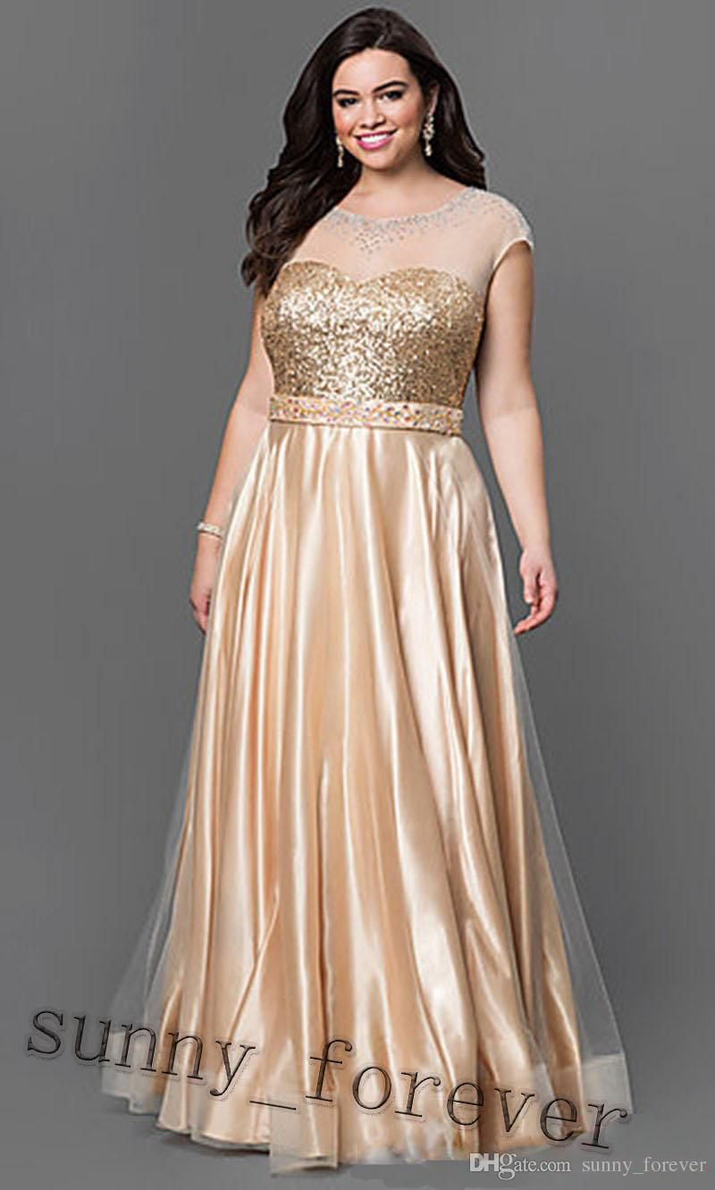 Gold Plus Size Homecoming Dresses