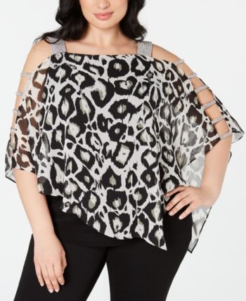 MSK Plus Size Rhinestone-Trim Overlay Top  & Reviews - Dresses - Women - Macy's 15