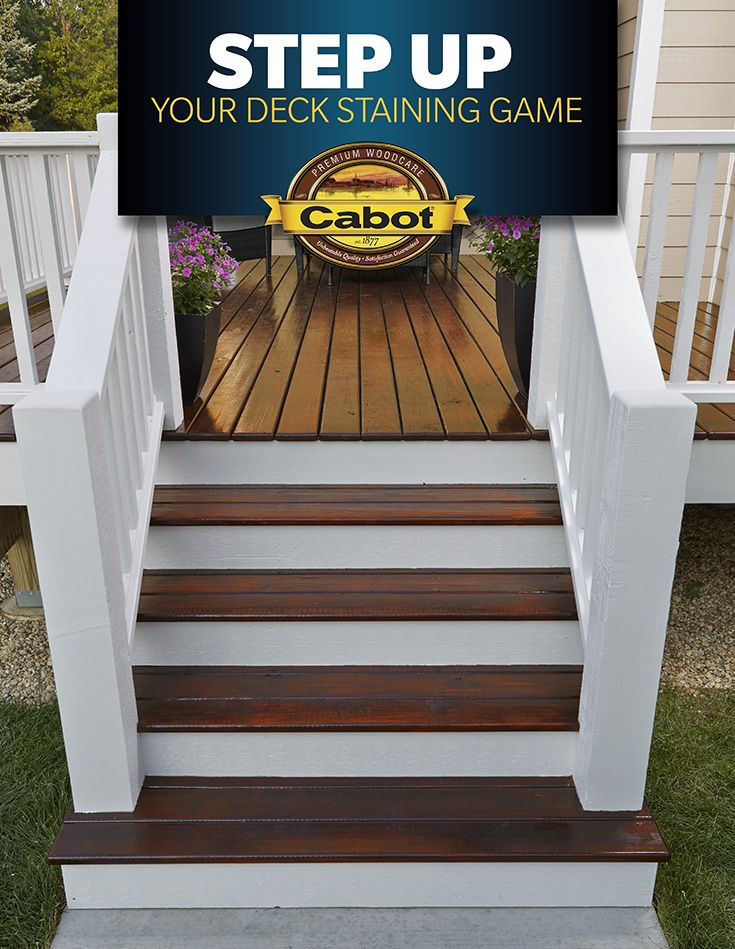 Details Make A Difference Contrast A Cabot Gold Floor In Moonlit Mahogany With Cabot Solid Color Acrylic Siding St Deck Stain Colors Staining Deck Deck Colors