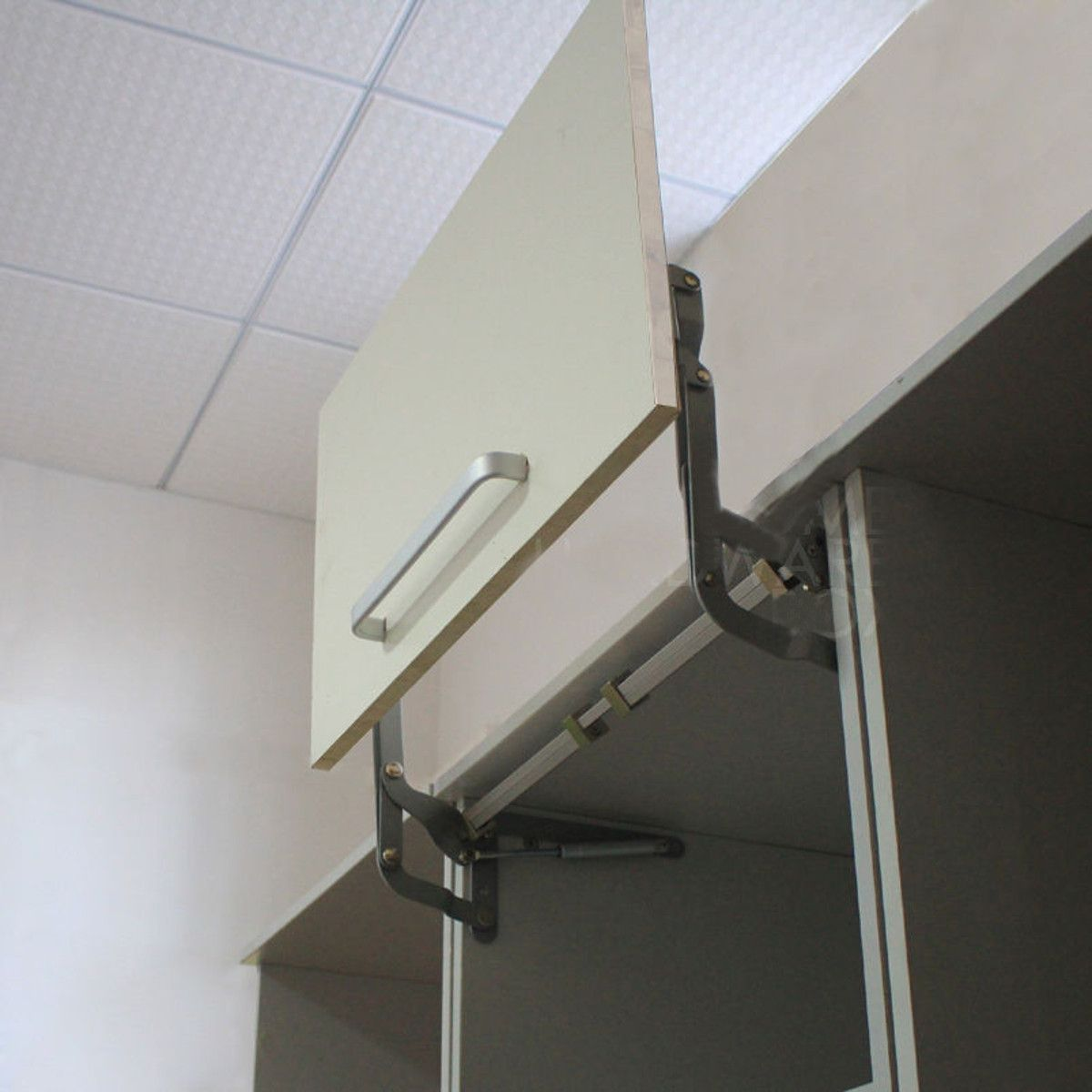 Arm Mechanism Hinges Vertical Swing Lift Up Stay Pneumatic For Cabinet Boggle Up Glass Door Hinges Cabinet Doors Kitchen Cabinet Doors