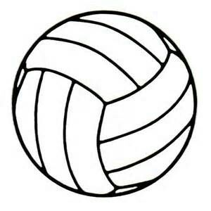 volleyball outline traceable drawing clip art art pinterest rh pinterest com au clipart volleyball court clip art volleyball girls