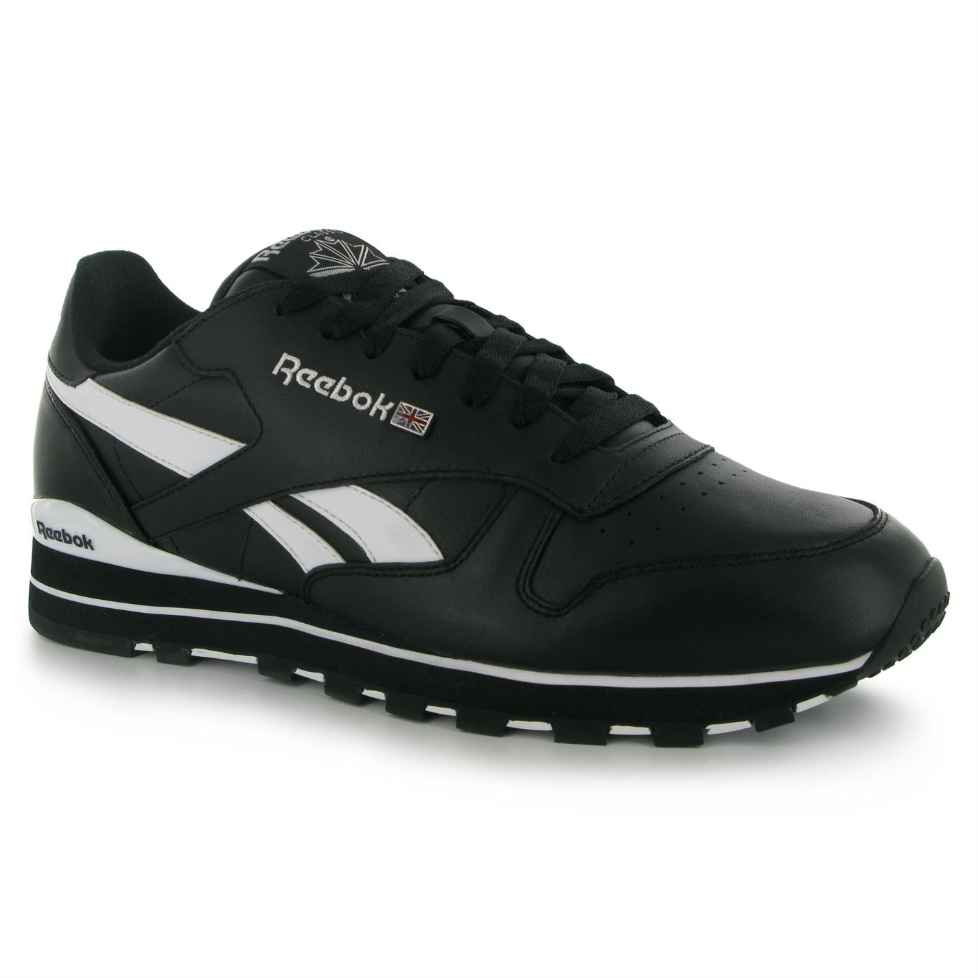reebok classic leather mens trainers black