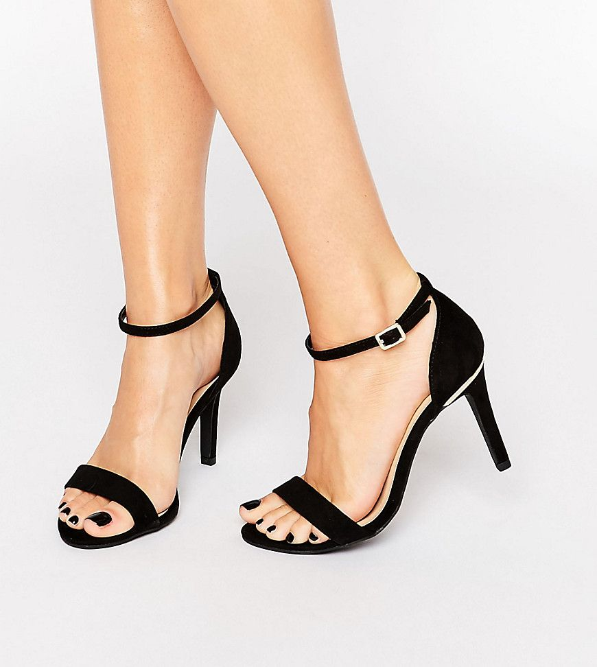 cc11c556f6 New Look Wide Fit Barely There Heeled Sandal | Heels | Sneaker boots ...