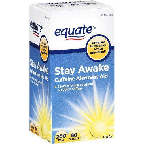 using diet pills to stay awake