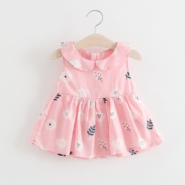 d59a6855ed486 Belababy Summer Newborn Baby Girl Dress Cotton Floral Baby Clothing ...