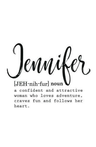 Personalized Jennifer Journal For Women Blank Journal For Journaling Jennifer Name Gift Gift For Jennifer Pers Jennifer Name Word Doodles True Quotes