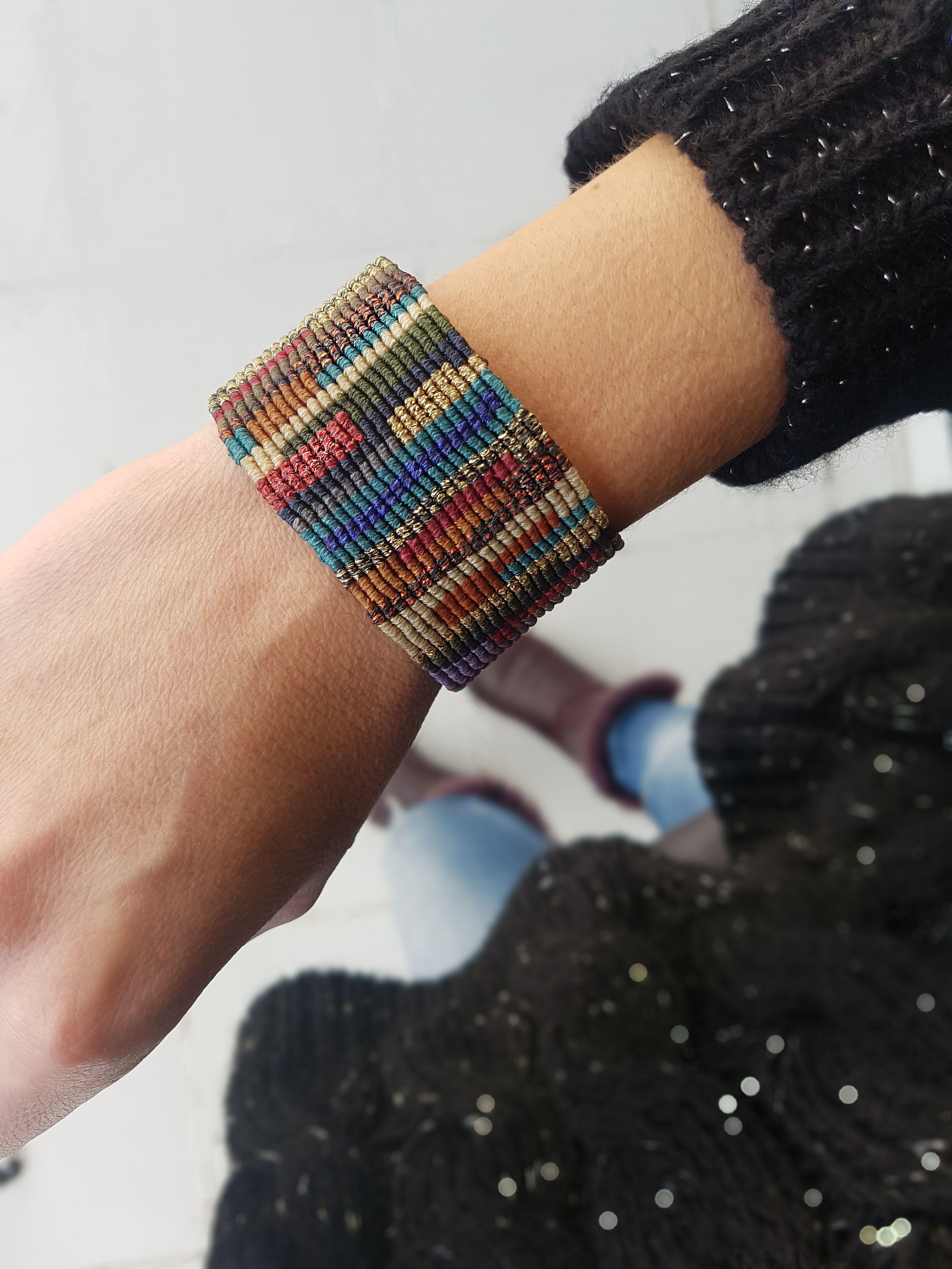 Macrame Bracelet Unisex Woven Bracelet Dark Brown Woven Wrap Bracelet Simple  Bracelet