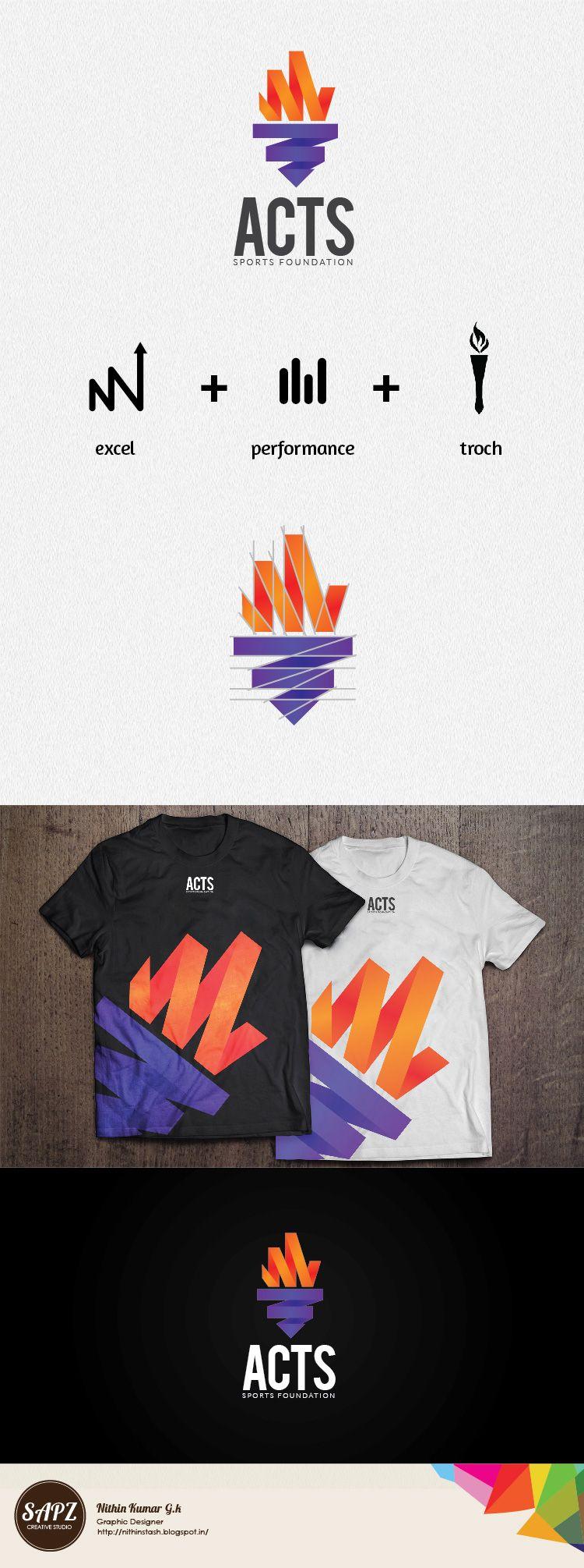 Download Acts Sports Foundation Logo Mockup Tshirt Design Sports Logo Foundation Logo Logo Design Logo Mockup
