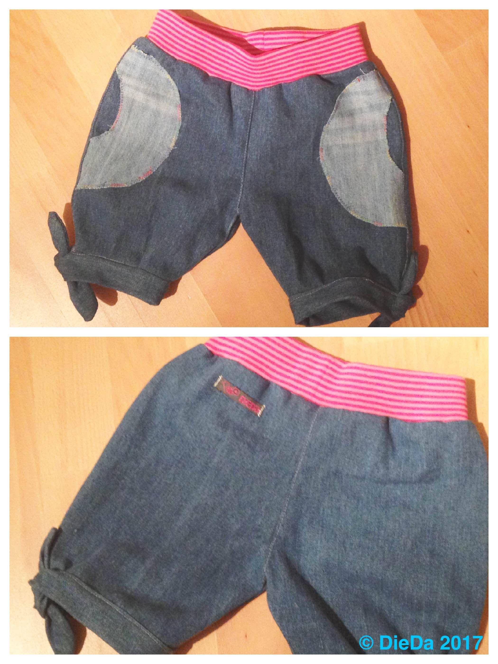 Denim Mädchen Shorts kurze Hose Jeans recycling (Schnittmuster ...
