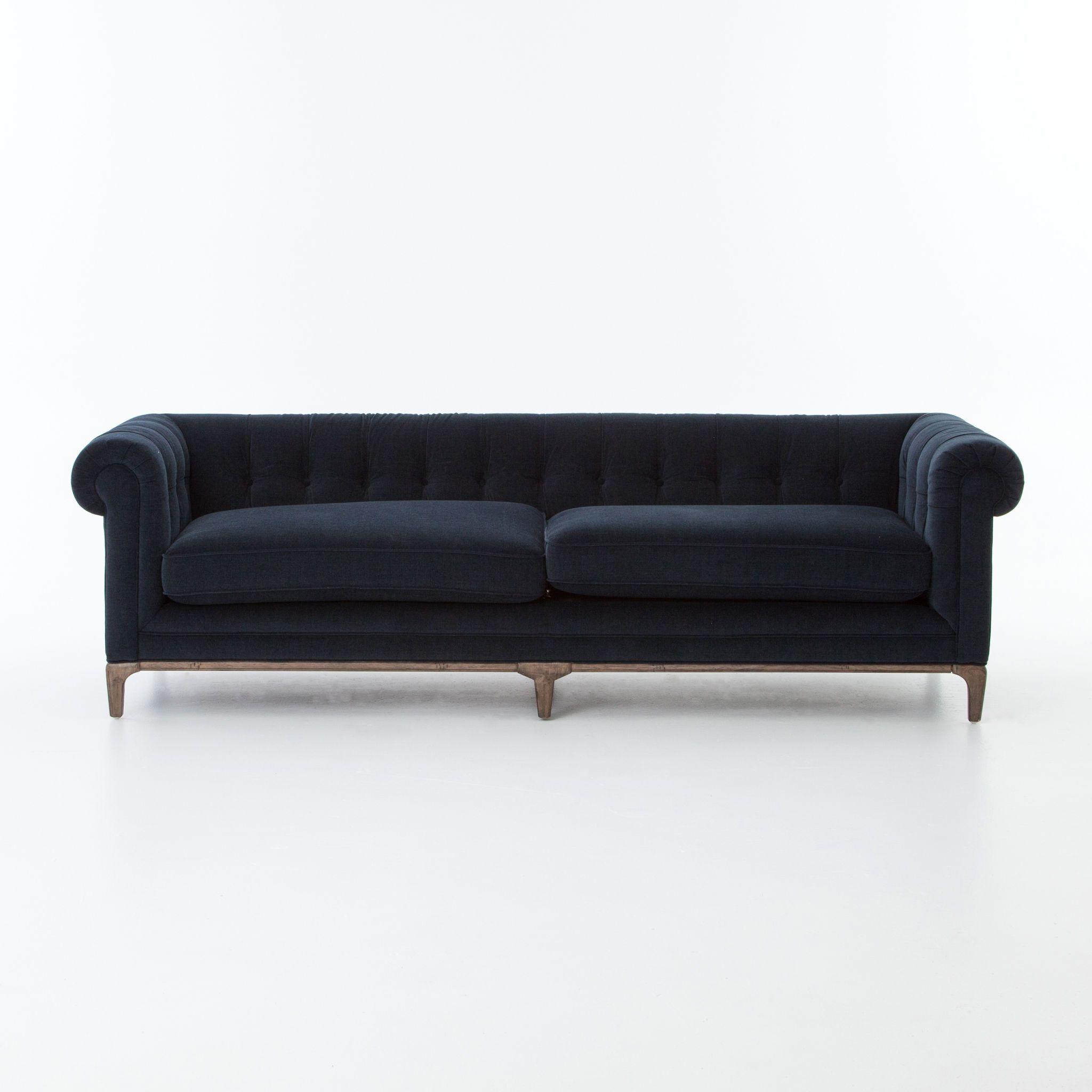 Four Hands Living Room Griffon Sofa-Plush Navy CKEN-F8A3-404 | RSRCS ...