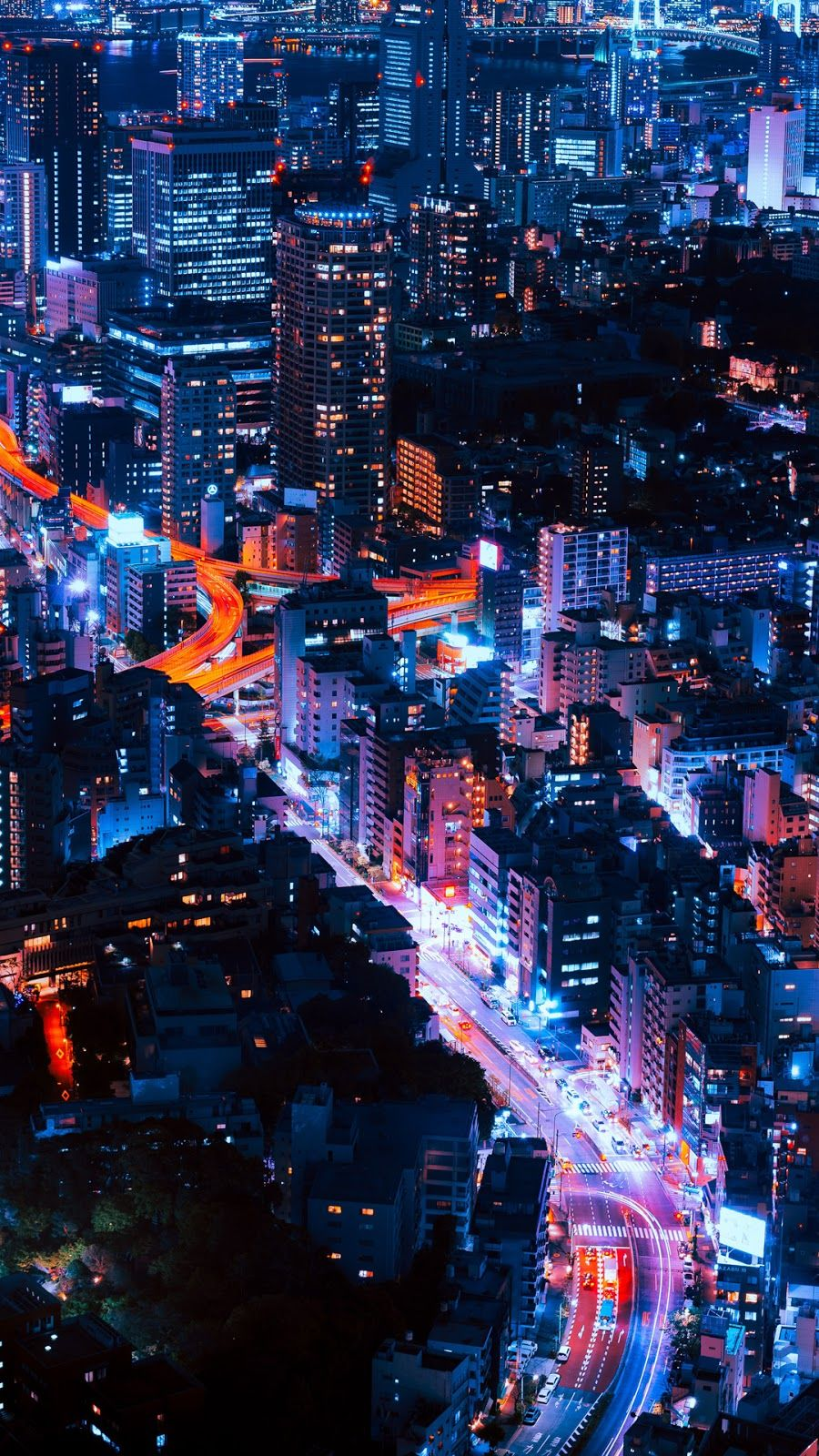 Tokyo Night City Iphone Wallpaper City Wallpaper Stunning Wallpapers