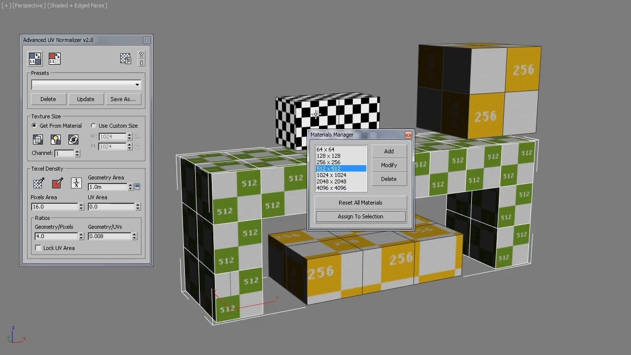 Advanced UV Normalizer 2 0   3dsMax Tools   Desktop