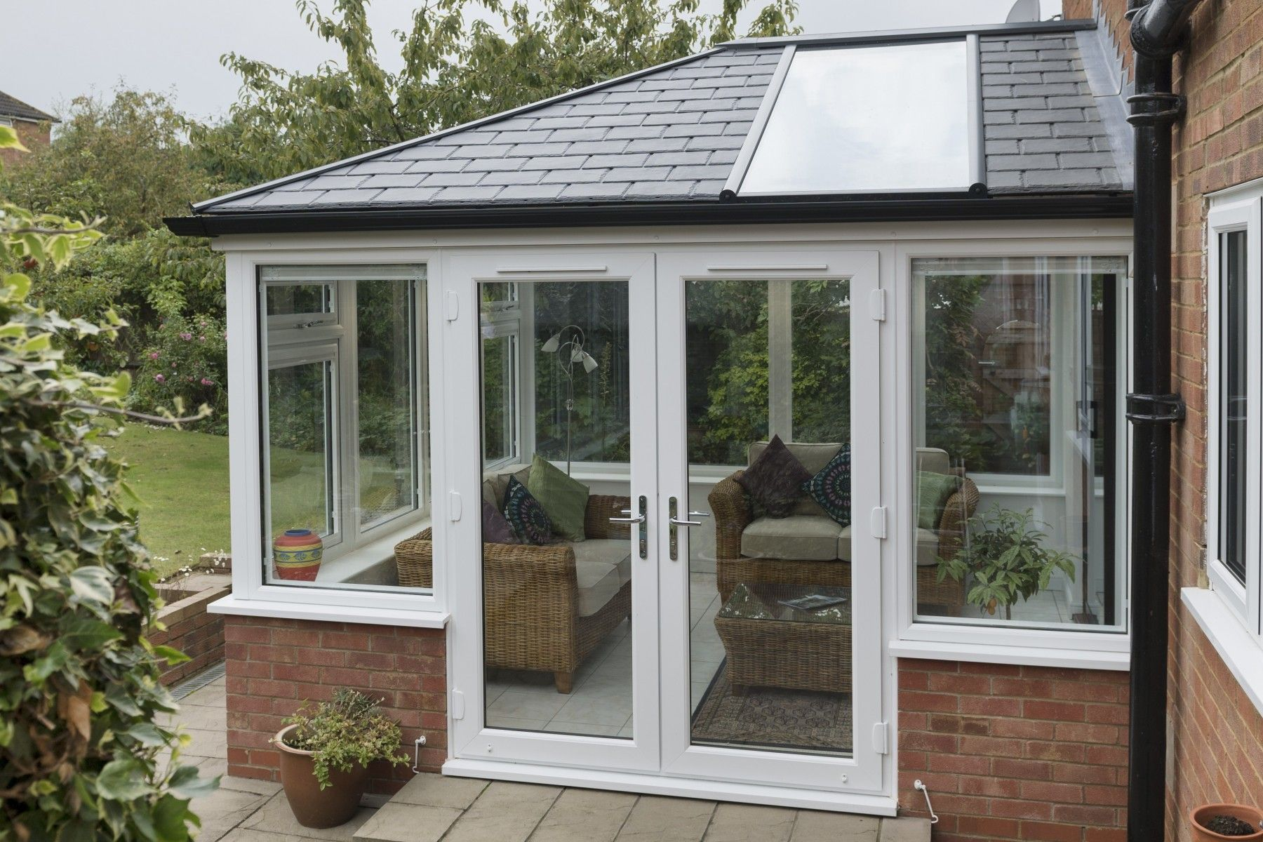 The Ultraroof Is Perfect For Those Wanting The Benefits Of A Tiled Roof While Retaining An Elemen Tiled Conservatory Roof Conservatory Roof Conservatory Design