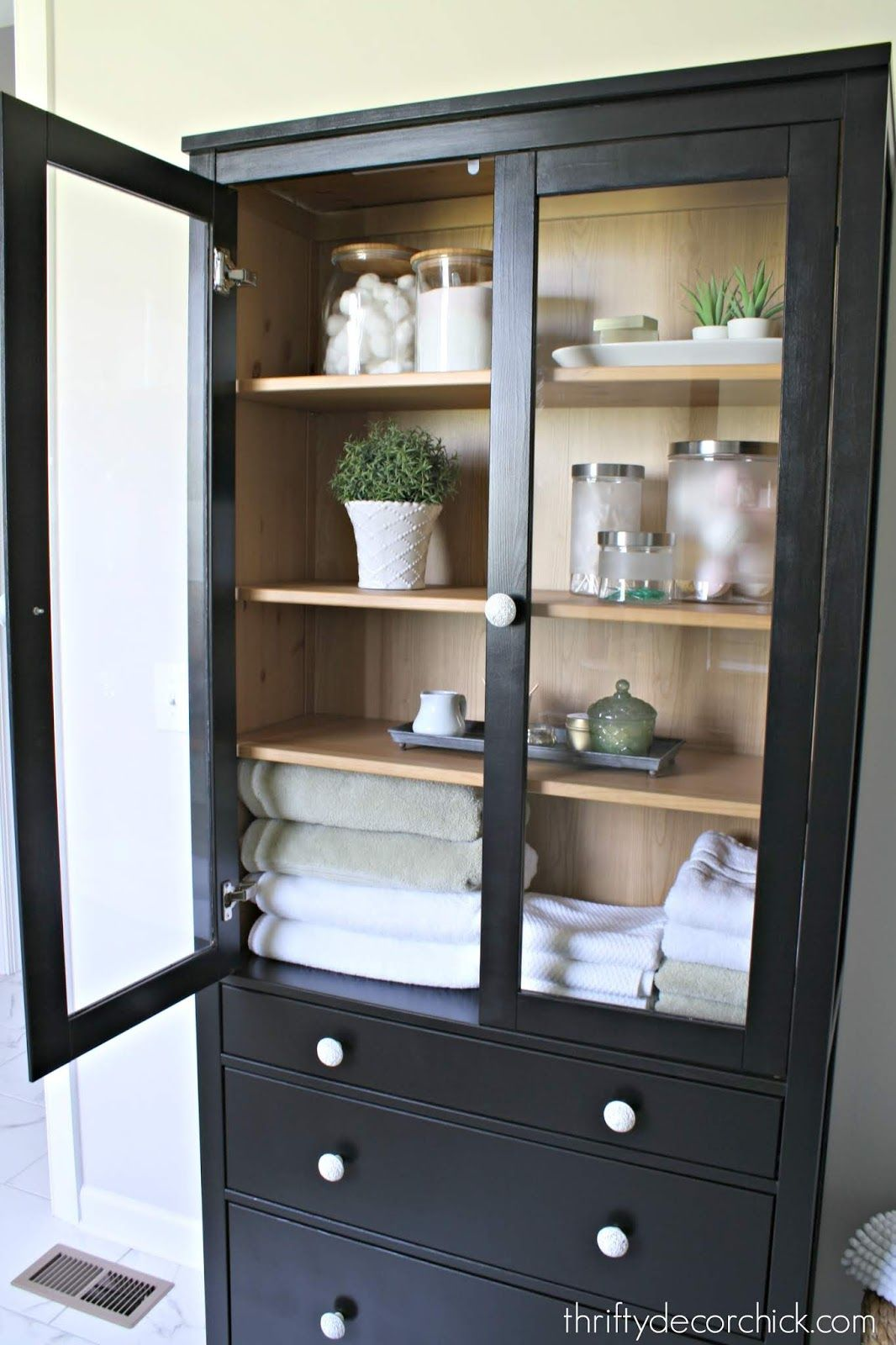 My Favorite Ikea Pieces And How We Use Them Glass Cabinet Glass Kitchen Cabinet Doors Ikea Hemnes Cabinet [ jpg ]