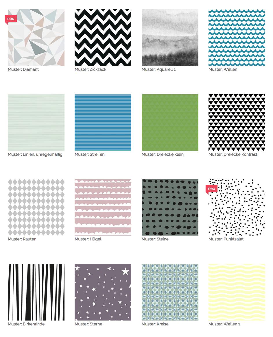 Dein Teppich kann jedes erdenkliche Muster haben: hier ein paar Beispiele.