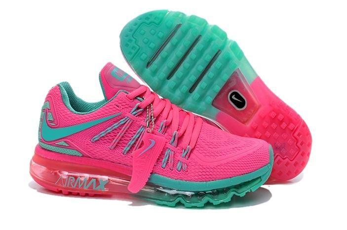 quality design fb71e 8fdb4 Nike Air Max 2015 Womens Shoes TPU KPU Hot Pink Green New