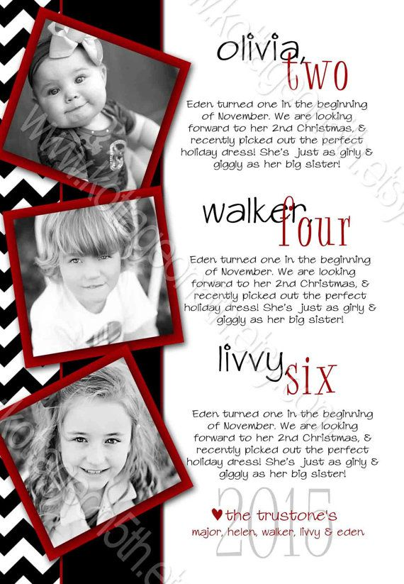 Chevron 3 Photo Storyboard - Vertical - Black White Red - Modern - vertical storyboard