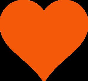 Simple Orange Heart Clip Art Heart Clip Art Clip Art Heart Emoji