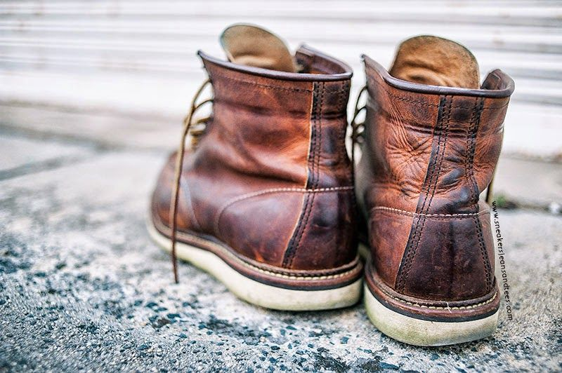 #RedWing #Heritage 1907 #Copper #RoughandTough 6 Inch #MocToe #Leather #Boots #workboots #destroyedboots #leatherboots #redwingboots #footwear #patina #distressedleather