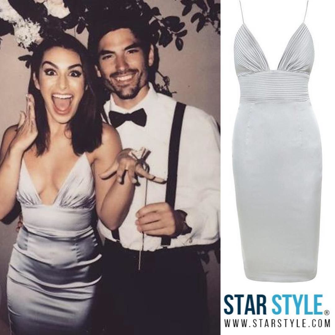 8fb61f7cd93 Ashley Iaconetti wearing House of CB to a wedding with Jared Haibon   ashleyiaconetti Shopping info