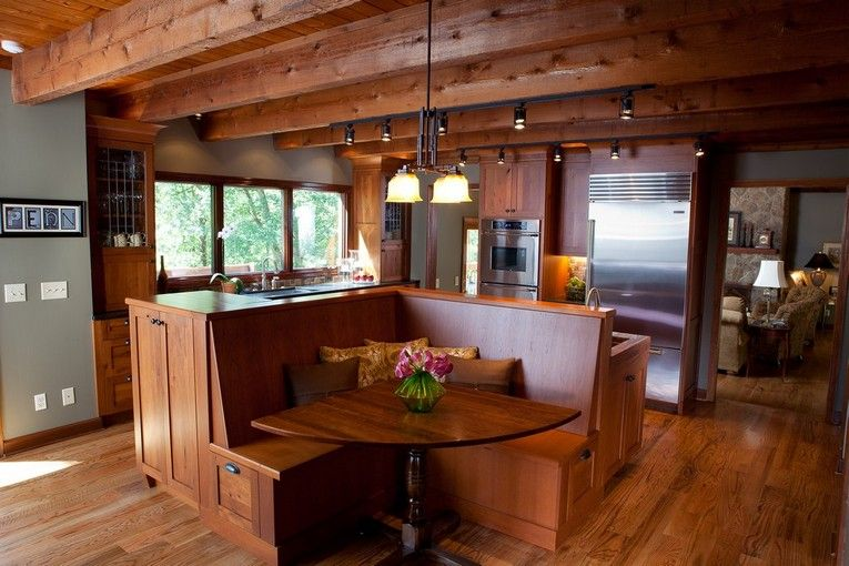 Kitchen Booth Design Ideas ~ Kitchen island ideas for dining