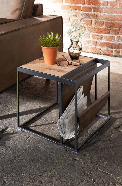 Beistelltisch Magazine 40x40 Cm Beistelltisch Holz Beistelltische Beistelltisch
