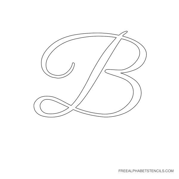 photograph about Printable Fancy Lettering named Extravagant Letter B Stencils  Alphabet Stencils within Printable