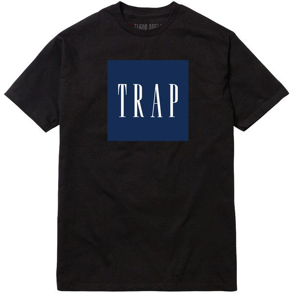 TRAP (IN GAP FONT) T SHIRT ($15) ❤ liked on Polyvore