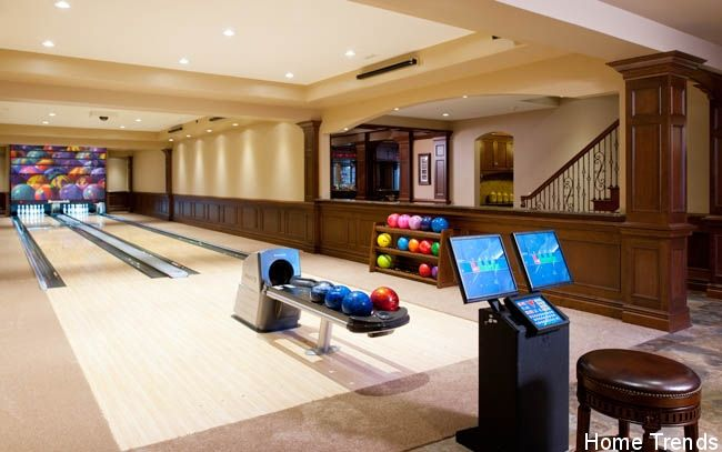 Imagine having a bowling alley in your basement water for Basement swimming pool cost