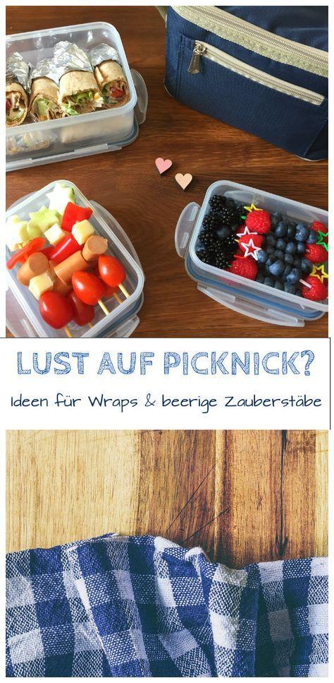 Picknick-Ideen - Wraps und Spieße | Picknick ideen