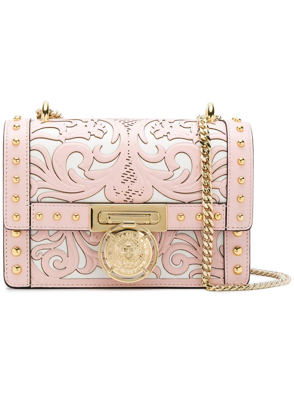24c082fcc05 Balmain Renaissance 20 shoulder bag Balmain Collection, Pink Leather,  Leather Bag, Paris T