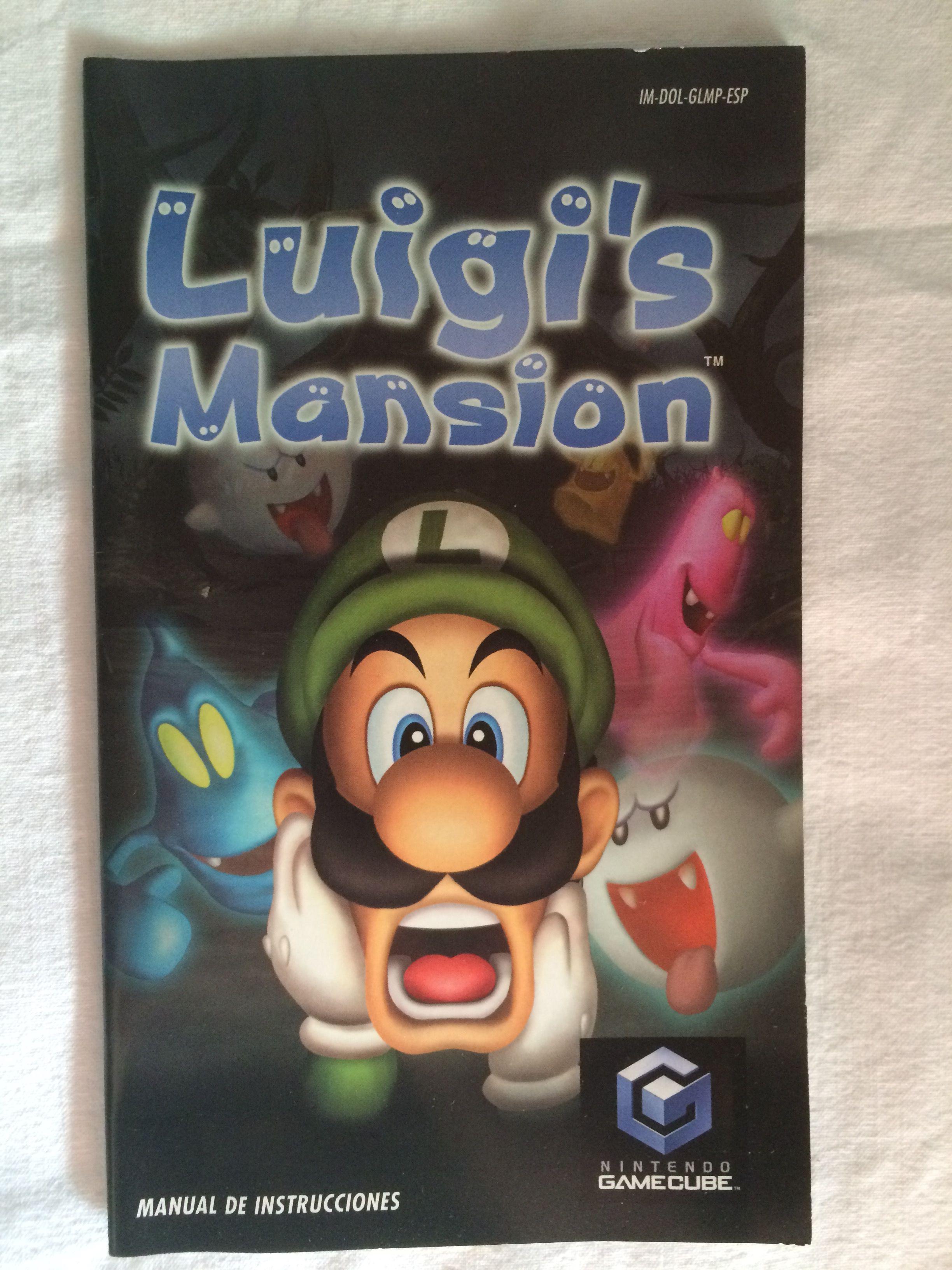 luigi s mansion manual luigi s mansion gamecube pinterest rh pinterest com au GameCube Controller Nintendo GameCube