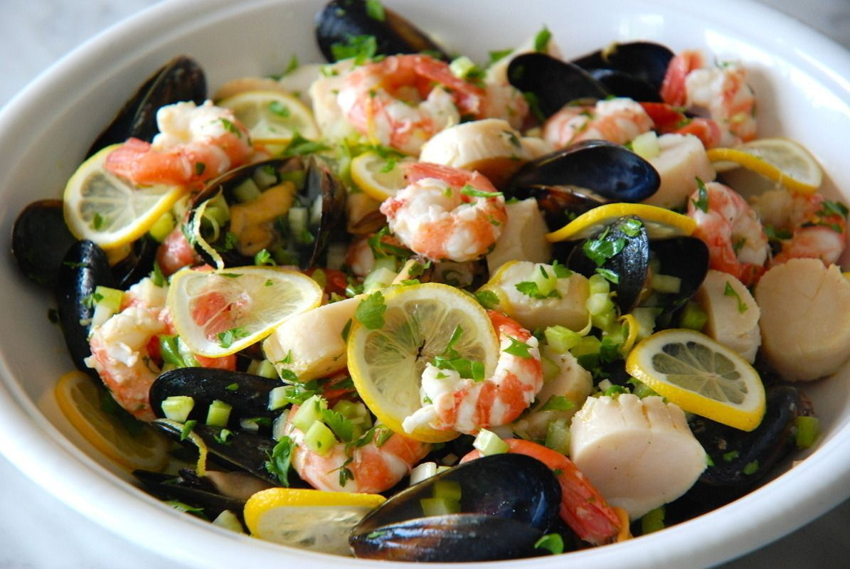 Gojee - West Coast Seafood Salad with a Thyme & Lemon Vinaigrette by Kitchen Culinaire