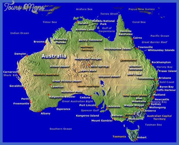 Australia Map Tourist Attractions httptoursmapscomaustralia