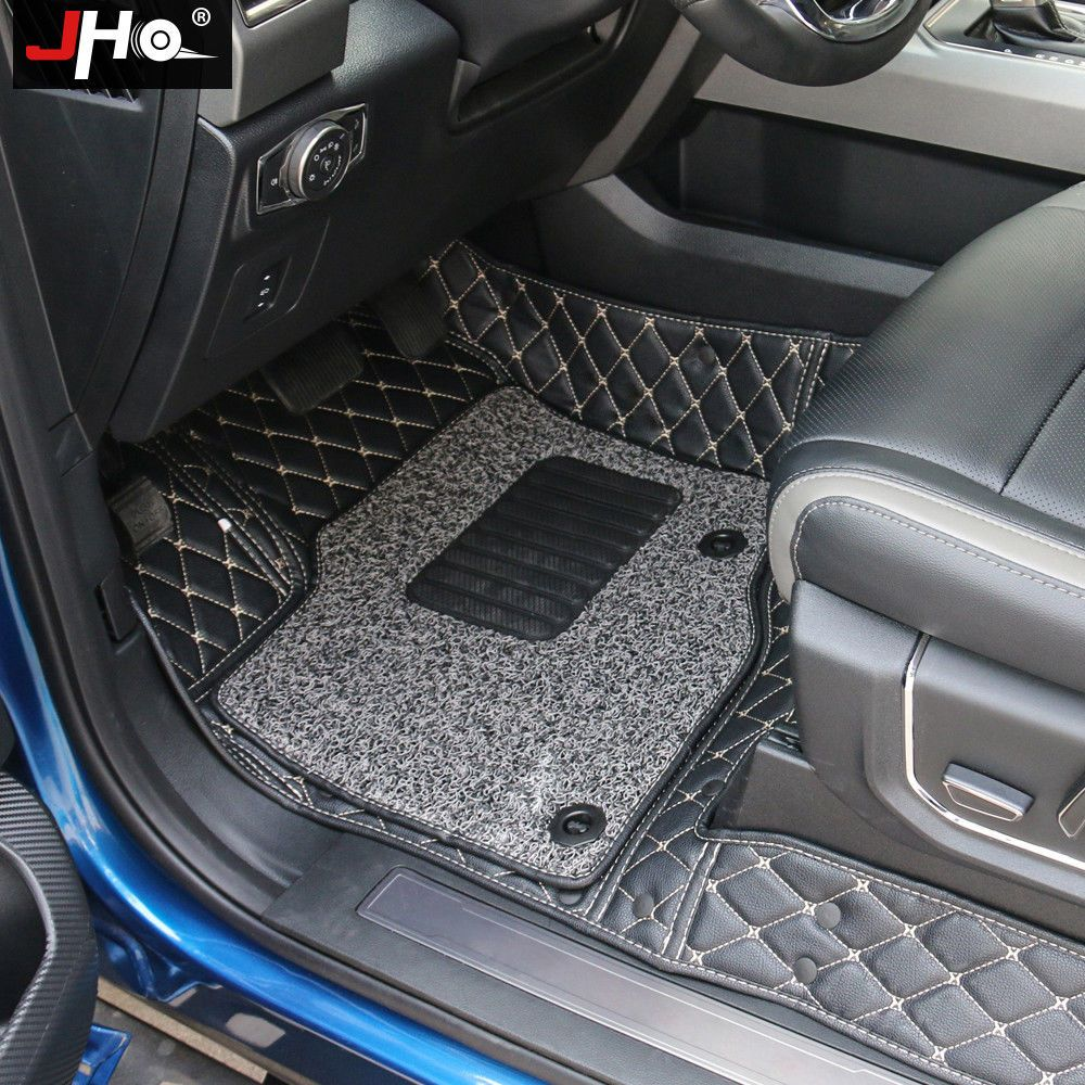 4 Door Truck Front Rear Leather Wire Floor Mats For Ford F150 Raptor 2015 2018 4 Door Trucks Ford F150 Ford F150 Raptor