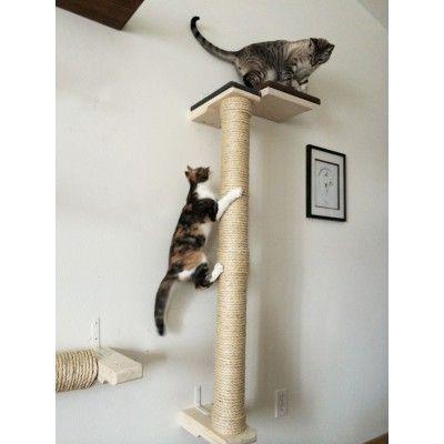 Vertical Wall Mounted Sisal Cat Pole Cat Wall Shelves Cat Climbing