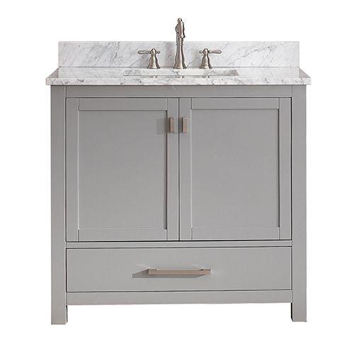 Modero Chilled Gray 36 Inch Vanity Only Avanity Vanities Bathroom Vanities Bathroom Furnit