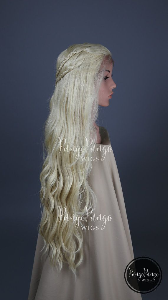 ca327ee08b4 Daenerys Targaryen Costume Wig / Blonde Lace Front Wig / Long Curly ...