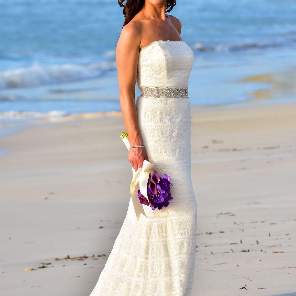 Lace Sheath Wedding Dress with Godet Inserts David's