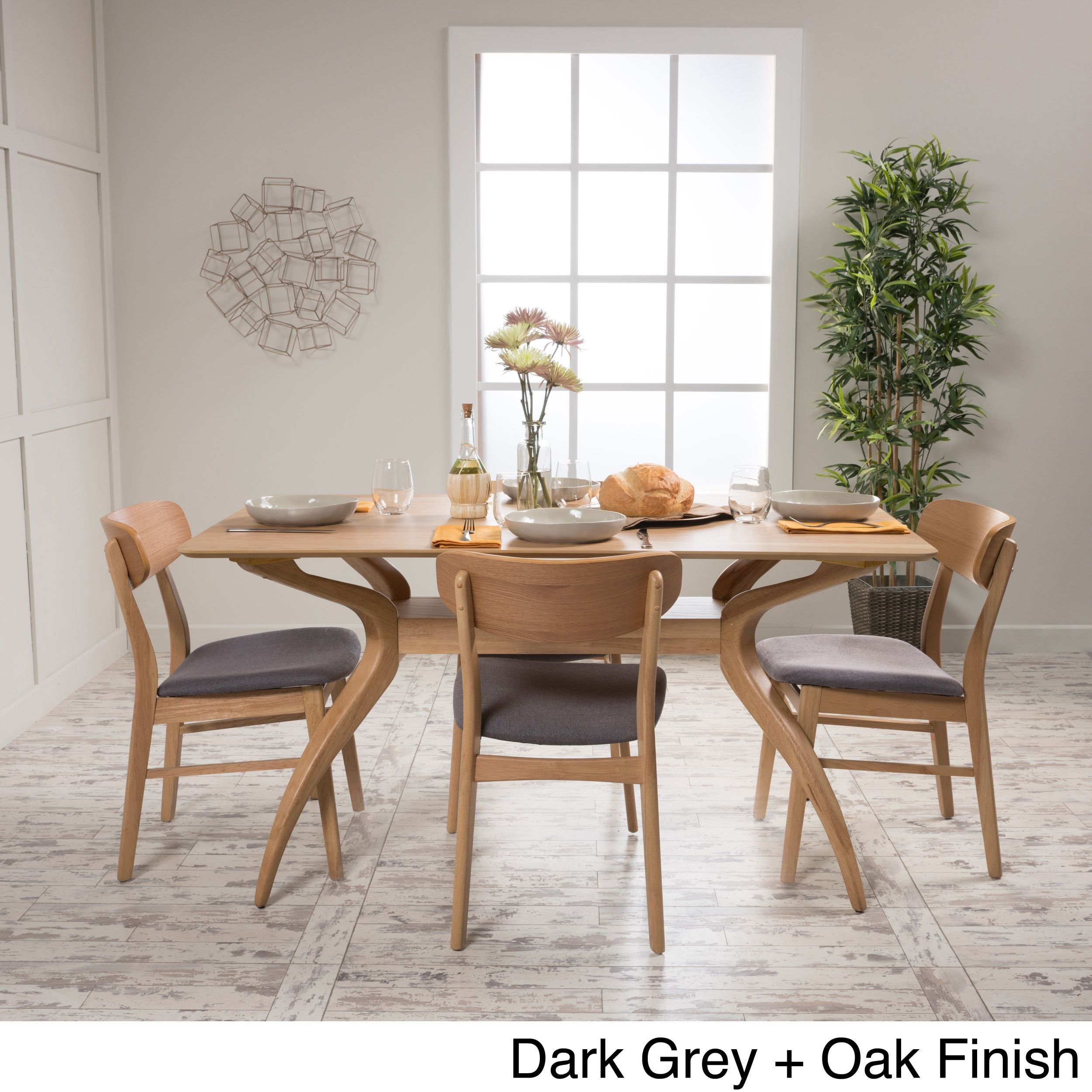 Lucious 5Piece Rectangular Dining Setchristopher Knight Home Endearing Grey Dining Room Sets Review