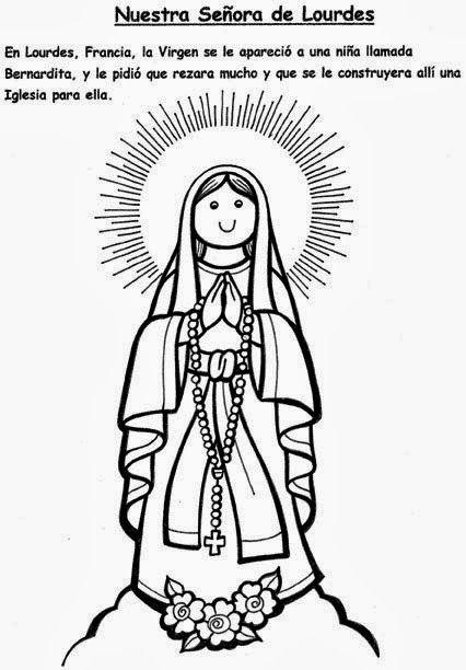Imagen Relacionada Nuestra Senora De Lourdes Dibujos De Virgen