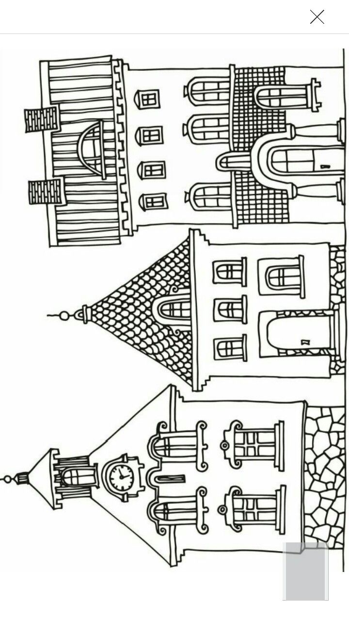 houses geometric coloring books pinterest house doodles and