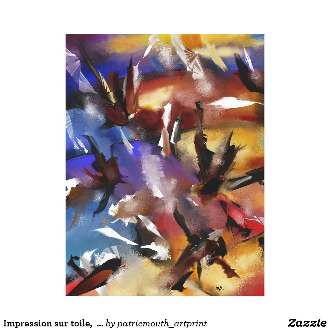 "Impression sur toile,  ""Abstract 1.1705"""