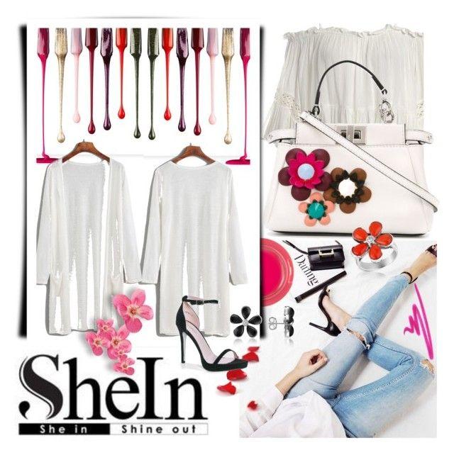 White Off The Shoulder Super Long Sleeve Shirt-SHEIN